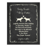 Miniature Bull Terrier Silhouettes Wedding Card