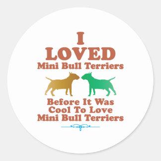Miniature Bull Terrier Stickers
