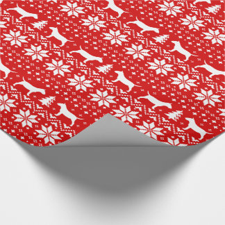 Miniature Bull Terriers Christmas Sweater Pattern Wrapping Paper