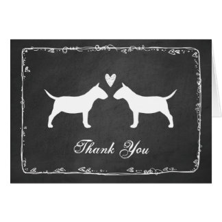 Miniature Bull Terriers Wedding Thank You Card