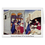 Miniature By Master Of The Cite Des Dames' Greeting Card