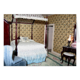 Miniature Canopy Bedroom Note Card - Blank