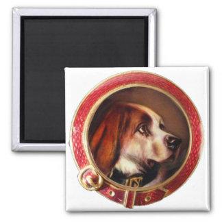 MINIATURE DOG PORTRAITS Bloodhound Magnet