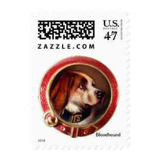 MINIATURE DOG PORTRAITS Bloodhound Postage