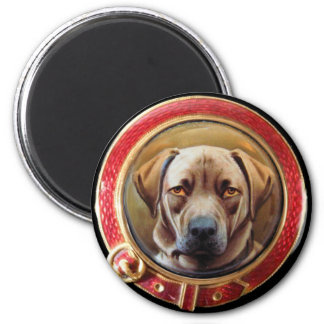 MINIATURE DOG PORTRAITS Chocolate Labrador Magnet