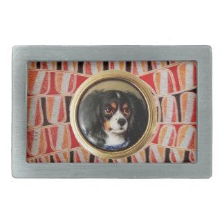 MINIATURE DOG PORTRAITS Tricolor Spaniel Belt Buckle