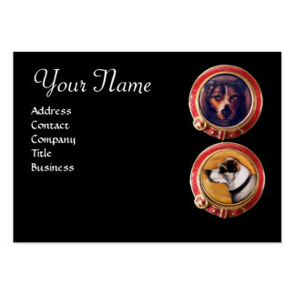 MINIATURE DOG PORTRAITS ,Veterinary Veterinarian Large Business Cards (Pack Of 100)