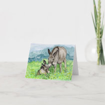 Miniature Donkey Mother's Day Card