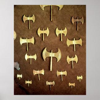 Miniature double axes poster