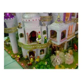 Miniature fairytale castle postcard