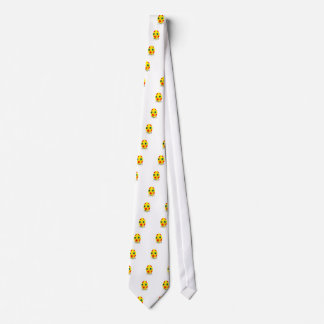 Miniature figurines painting yellow easter egg tie