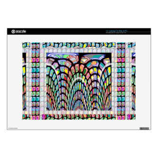 "Miniature FineArt Abstract Wave Pattern on gifts 15"" Laptop Decal"