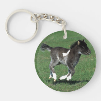 Miniature Foal Running Keychain
