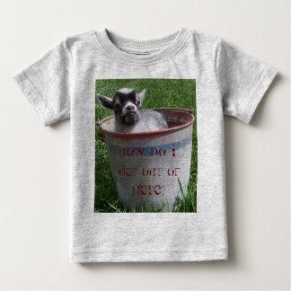 Miniature Goat in Bucket Baby T-Shirt