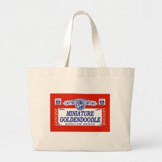 Miniature Goldendoodle Large Tote Bag