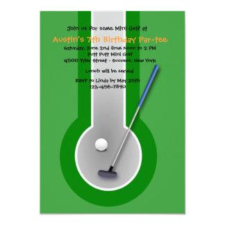 Miniature Golf Birthday Party Invitation