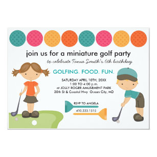 Golf Birthday Invitations Announcements Zazzle