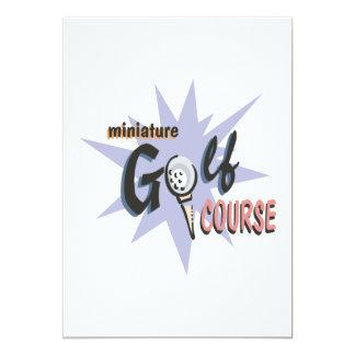 Miniature Golf Course Card