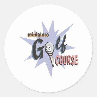 Miniature Golf Course Classic Round Sticker