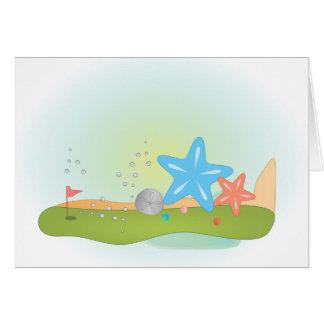 Miniature Golf Course Hole No.7 Greeting Card