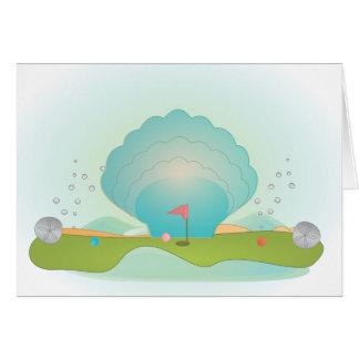 Miniature Golf Course Hole No.9 Greeting Card
