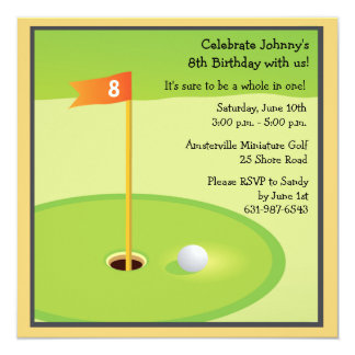 Miniature Golf Game Invitation