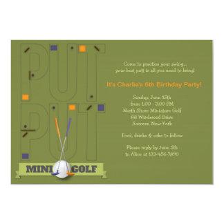 Miniature Golf Invitation