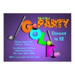 "Miniature Golf Party 5"" X 7"" Invitation Card"
