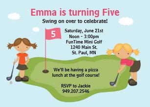 kids golf invitations zazzle