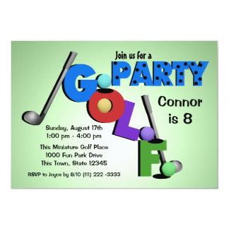 Miniature Golf Party 5x7 Paper Invitation Card