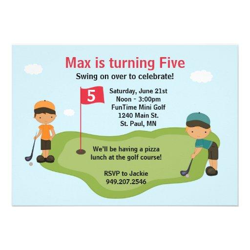 Personalized golf birthday invitations custominvitations4u miniature golf party invitation filmwisefo