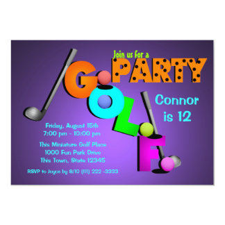 Miniature Golf Party Custom Announcements
