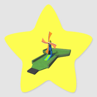 Miniature Golf Star Sticker