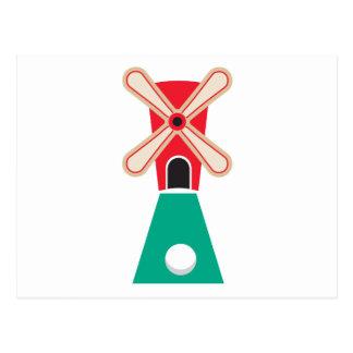 miniature golf windmill postcard