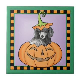 Miniature Halloween Poodle Ceramic Tile