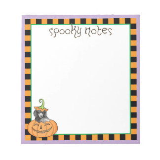 Miniature Halloween Poodle Notepad