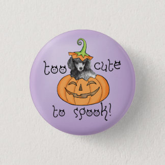 Miniature Halloween Poodle Pinback Button