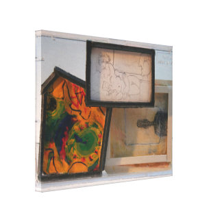 Miniature Homage to Painters K7 1986 Mixed-media C Canvas Print