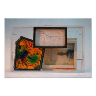 Miniature Homage to Painters K7 1986 Mixed-media P Poster
