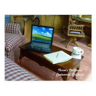 Miniature Home Office Postcard