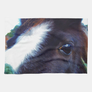 miniature horse face close-up hand towel