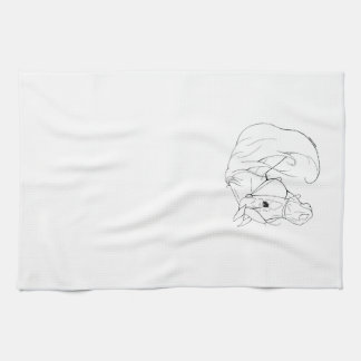 Miniature Horse Head Hand Towel
