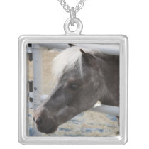 Miniature Horse Silver Plated Necklace