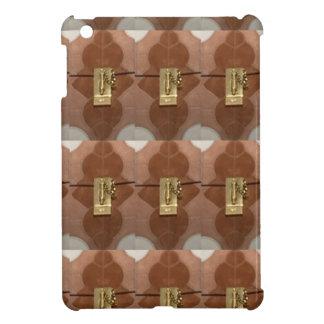 Miniature lock pattern brass shine fashion DIY fun Cover For The iPad Mini