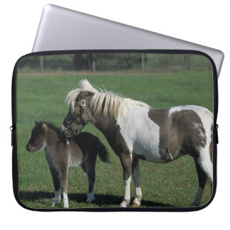 Miniature Mare & Foal Standing Computer Sleeve