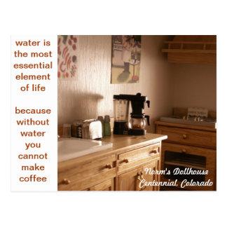 Miniature Morning Coffee Postcard