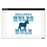 "Miniature Mules Rule 15"" Laptop Skins"