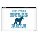 Miniature Mules Rule Decal For Laptop