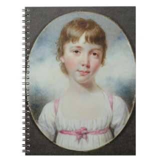 Miniature of a young girl notebook