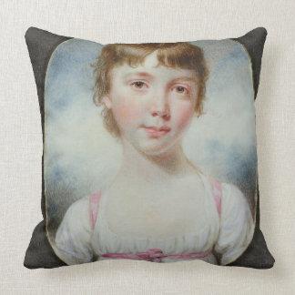 Miniature of a young girl throw pillow